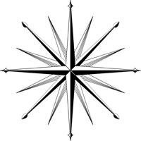 символ  ЦРУ  США, 16-ти лучевая  звезда